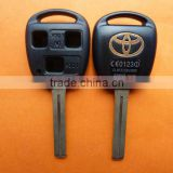 High Quality Toyota 3 button remote key shell with TOY40 blade (long blade-42mm),Toyota key blank,Toyota keys