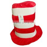 tall red clown hat for kids school performance or party make up