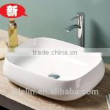 LELIN latest super thin slim edge art ceramic basin lavatory bowl sink ,counter top basin bathroom vanity wash basin