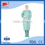Hospital use disposable green surgical gown /long sleeve surgical gown /short sleeve surgical gown with CE FDA certifications