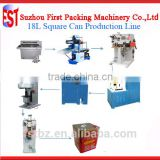 Semi-Automatic 18L 20L 5 gallon Square Tin Pail Box Making Machine Production Line