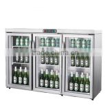 Shentop STH-AY03 Glass 3 door Beer Champagne Fridge with compressor for Hotel Home Restaurant