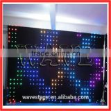 HOT WLK-1P18 Black fireproof Velvet cloth RGB 3 in 1 leds vision stage light fireproof led video curtain