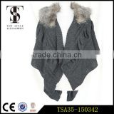 faux fur lined knitted shawl evening dress cape customized barber scarves
