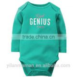 Kids long sleeve one piece bodysuits for autumn