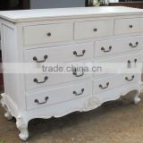 Antique Drawers Buffet for Dining Room - Handles Furniture -Indoor Jepara White Furniture