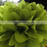"Moss green 8/10/14"" Tissue Paper Pom Poms Wedding Party Flower Ball Decoration"