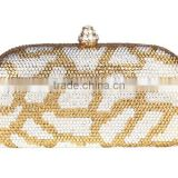 Beige crystal and rhinestone evening bags tote bag woman clutch bag evening bag