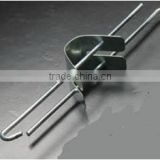 Galvanized hanger wire with adjustment clip