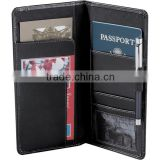 Open front pocket Leather Travel Wallet