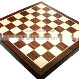 QUALITY Folding 3 in 1 INLAID WALNUT WOOD Chess, Backgammon, Checkers Set