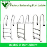 2015 Factory best price Swimming pool step ladder Swim Spa 304 Stainless Steel pool ladder steps ladder