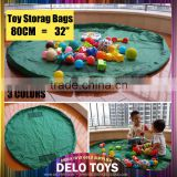 "32"" Baby Kids Play Floor Mat Toy Storage Bag Organizer Quickly Easily Folds Up, Perfect for Building Blocks DE00017"