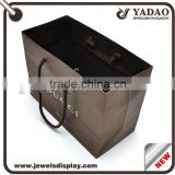 Free Sample OEM/ODM Production Brand Name Luxury Design Printing Folded Brown Craft Custom Paper Shopping Bag