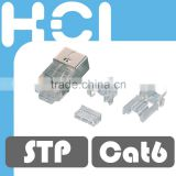 Network Solution Made inTaiwan RJ45 8P8C Cat6 Shielded STP Gold Plated Modular Plug