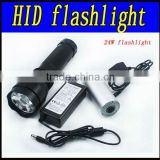24w hid xenon flashlight ,battery 2200mah ,ballast input voltage 9-16v,6000k,warranty 1 years