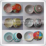 Eco-friendly round / heart shaped Cupcake Baking Mold for birthday