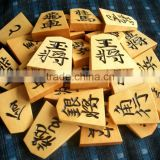 Safe and High quality decorative chess pieces Japanese chess (Shogi) with Premium made in Japan