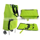Collapsible Foldable Rolling Shopping Bag on Wheels, Reusable Folding Shopping Cart Trolley Bag with Wheel