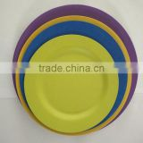 new arrival high quality bamboo fiber different size round plate