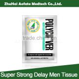 super strong delay wet tissue sexual product for man
