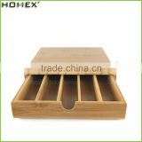 Natural Bamboo Coffee Pod Box with Drawer/Coffee Cup Holder/Homex_FSC/BSCI Factory
