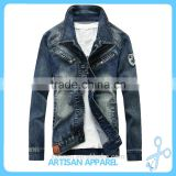 Cool Men's Jeans Jacket OEM factory wholesale high quality Autumn/Winter casual jeans coat for men