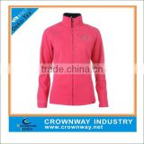 wholesale women's one side brushed fleece jacket