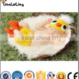 Duck Crochet Quality 3pcs Yellow Outfits Hat+Diaper+Shoes Photographie Props For Newborn Baby Suits