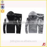 Jiangxi Kingtex Hot Sale Combed Cotton French Terry Contrast Sleeve Top Jumper Knitting Hoodies Set With SGS Certification