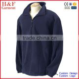 Promotional pullover fleece hoody half zip elastic cuff for outdoor activities