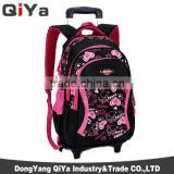 Wholesale Fashion Durable Travel Kids School Bag Trolley Backpack With Wheels For Girls