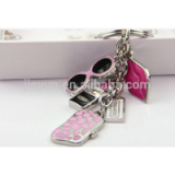 Customized Fashion Bling Key Chain / Rhinestone Metal Keychain / Fashion Jewelry Wholesale