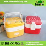 Best 1300ml Portable Square Double Layers Lockable Thermal Food Warmer Plastic Lunch Box