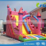 lovely cat inflatable slide cartoon inflatable slide inflatable slide for nursery school