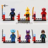 DIY Brain big hero 6 Games Children's building blocks kids toys plastic figure block