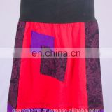 Bohemian Love Red Cotton Patchwork Mini Skirt HHCS 109 D