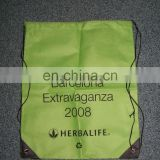 High quality promotional recycle non woven drawstring shoe carrying bag