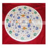 Marble Inlay Decorative White Table Tops