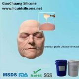 Skin safe liquid silicone rubber for mask making