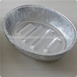 disposable partyware roasting aluminium oval plate food packaging aluminium turkey tray