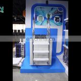 Factory Wholesale High Quality Plastic 2 Step Handrail Stainless Steel Pool Ladder For Swimming Pools