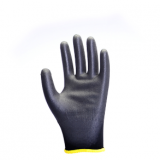 black shell black PU coated gloves