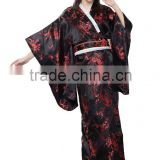 Sexy Lady plum blossom Japan Costume Kimono Yukata Long Loose Robe High Quality Traditional Japanese Women Kimono Evening Dress