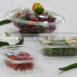 Hot new products for 2014. plastic salad packaging box with lid,China biggest PET products factory