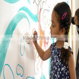 Adhesive white board kids wall stickers