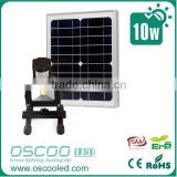 Profssional Solar Powered Light Sensor Activated Led Floodlight li-ion battery