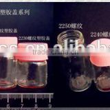 22mm diameter test tube glass bottle with cork, small glass tube testing bottle with screw cap