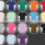 Bulk in Stock,Sublimation Blank T shirt,50%Cotton 5%lycra,low Price,small MOQ,S-XXXL size