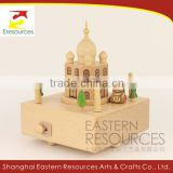 Wood Musical Box Miniature Taj Mahal